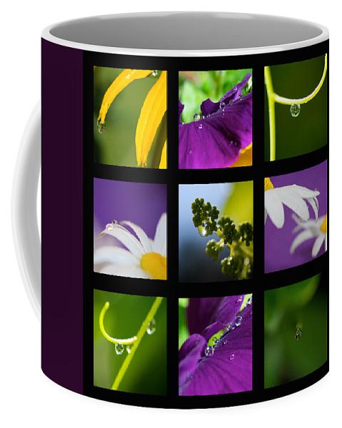Mosaic Coffee Mug featuring the photograph Water Drop Mosaic by Lisa Knechtel