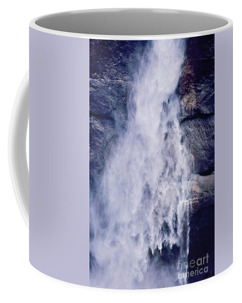 Waterfall Coffee Mug featuring the photograph Water Drops by Kathy McClure