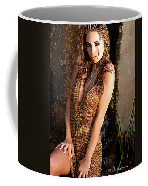 Clay Coffee Mug featuring the photograph Water Fall Beauty by Clayton Bruster