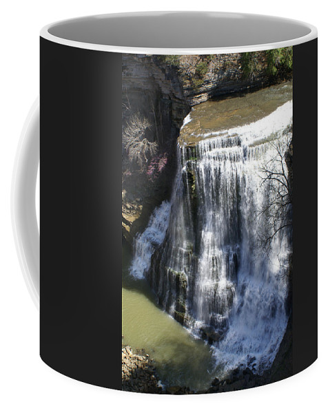 Falls Coffee Mug featuring the photograph Water Fall In Tennessee by Douglas Barnett