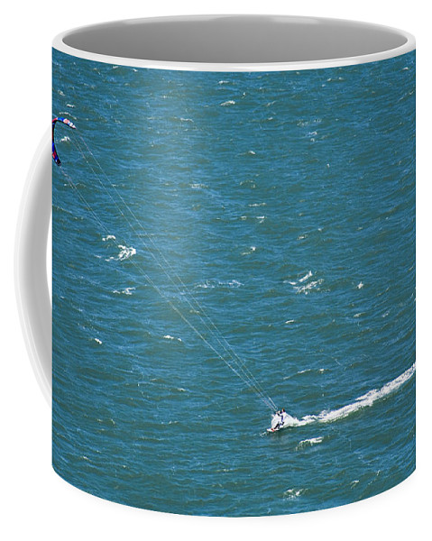 Water Coffee Mug featuring the photograph Water Glider by Marilyn Hunt