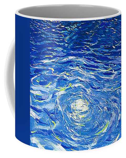 Pool Coffee Mug featuring the mixed media Water In The Pool by Dragica Micki Fortuna
