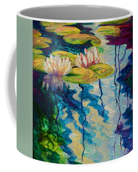 Water Lily Coffee Mug featuring the painting Water Lilies I by Marion Rose