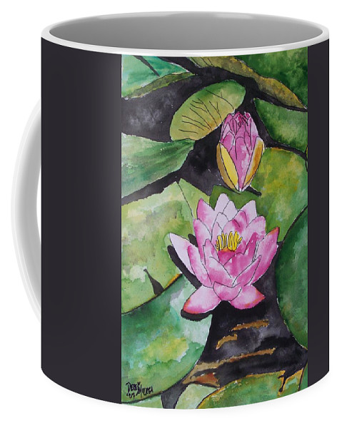 Water Lily Coffee Mug featuring the painting Water Lily by Derek Mccrea