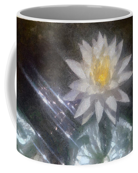Water Lily Coffee Mug featuring the painting Water Lily In Sunlight by Jeffrey Kolker