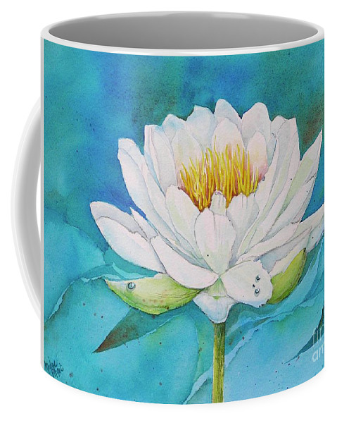 Water Lily Coffee Mug featuring the painting Water Lily by Midge Pippel
