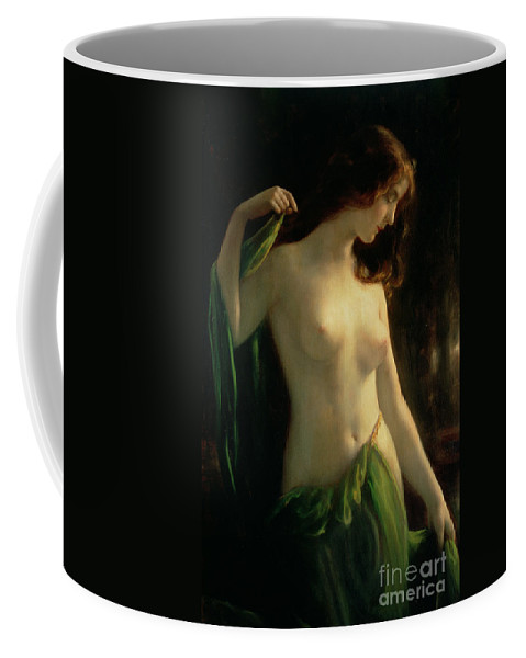 Water Nymph Coffee Mug featuring the painting Water Nymph by Otto Theodor Gustav Lingner