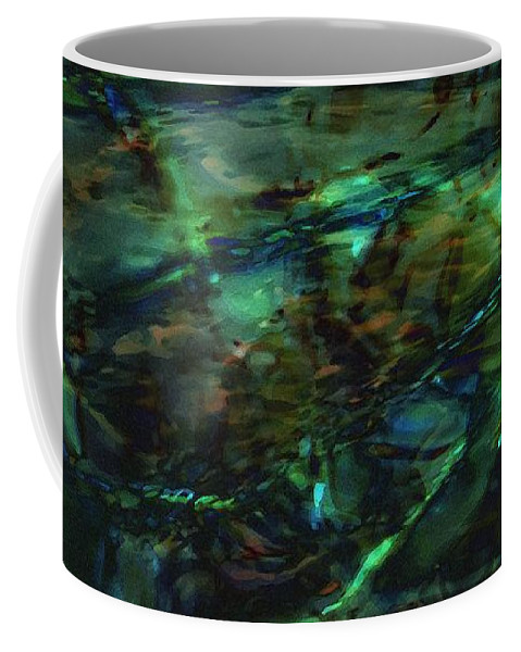Abstraction Coffee Mug featuring the digital art Water Play by Max Steinwald