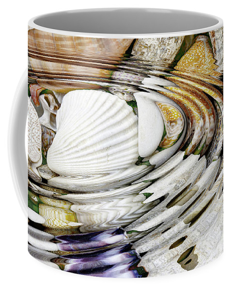 Mineral Coffee Mug featuring the photograph Water Ripples Above Sea Shells by Michal Boubin