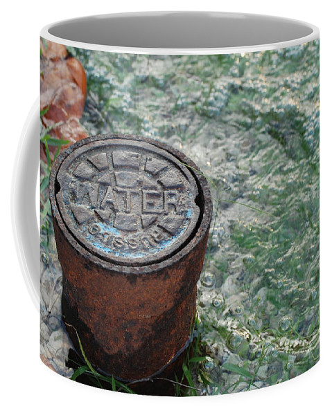 Green Coffee Mug featuring the photograph Water by Rob Hans