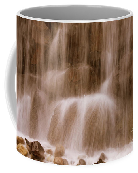 Water Coffee Mug featuring the photograph Water Softly Falling by Carol Groenen