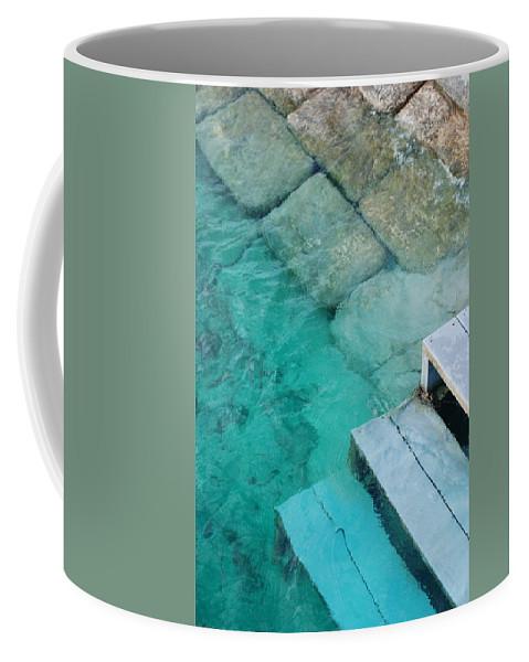 Water Blocks Bricks Coffee Mug featuring the photograph Water Steps by Rob Hans
