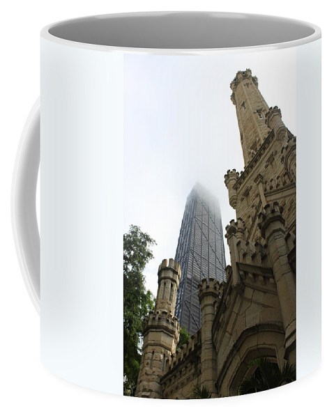 Chicago Coffee Mug featuring the photograph Water Tower And Hancock by Lauri Novak
