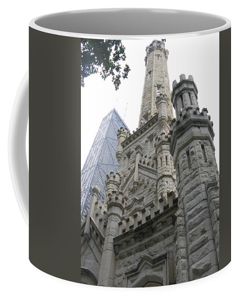 Chicago Coffee Mug featuring the photograph Water Tower And Sears Tower by Brittany Horton