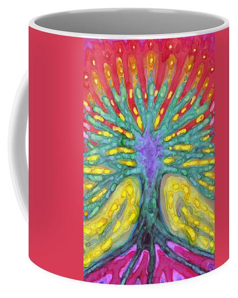 Colour Coffee Mug featuring the painting Water Tree by Wojtek Kowalski