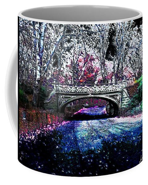 Bridge Coffee Mug featuring the photograph Water Under The Bridge by Iowan Stone-Flowers