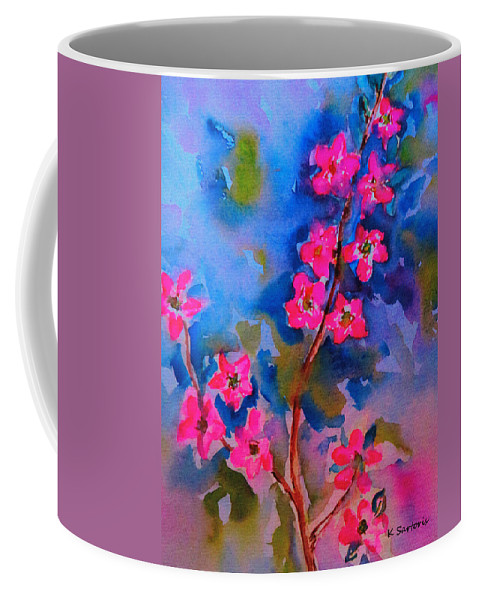 Flower Art Coffee Mug featuring the painting Watercolor Flowers by Kathleen Sartoris