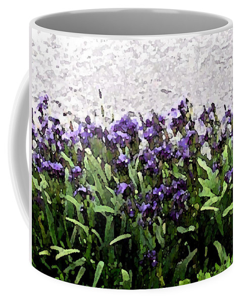 Abstract Art Coffee Mug featuring the photograph Watercolor Iris by Barbara Griffin