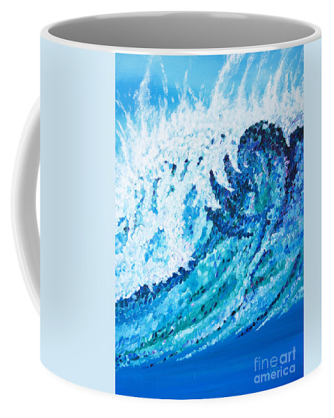 Ocean Coffee Mug featuring the painting Watercolor by JoAnn DePolo