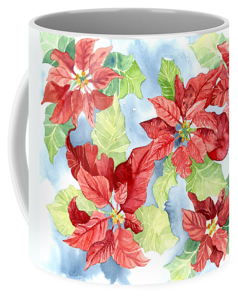Watercolor Poinsettias Christmas Decor Coffee Mug For Sale By Audrey Jeanne Roberts