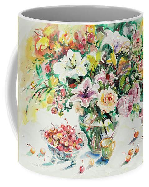 Floral Coffee Mug featuring the painting Watercolor Series 1 by Ingrid Dohm