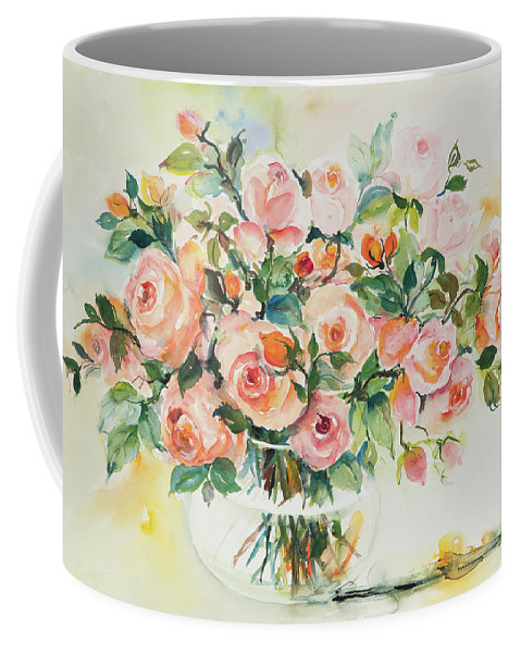 Floral Coffee Mug featuring the painting Watercolor Series 13 by Ingrid Dohm