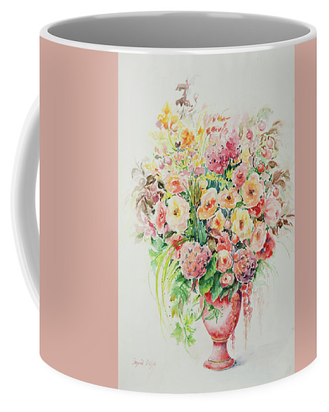 Floral Coffee Mug featuring the painting Watercolor Series 14 by Ingrid Dohm