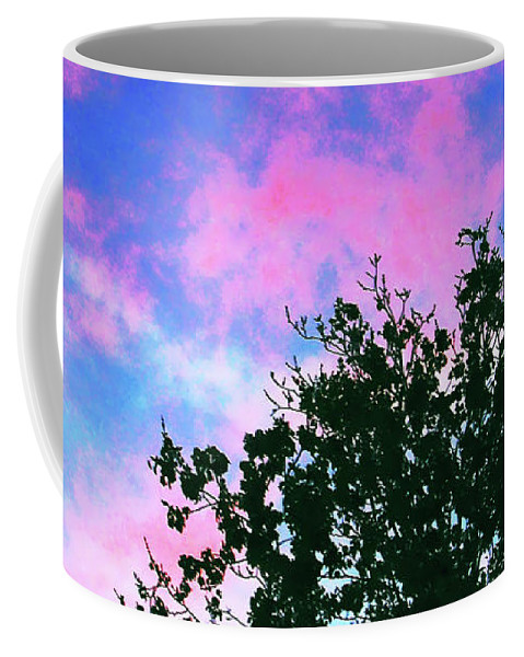 Skyscape Coffee Mug featuring the digital art Watercolor Sky by DigiArt Diaries by Vicky B Fuller