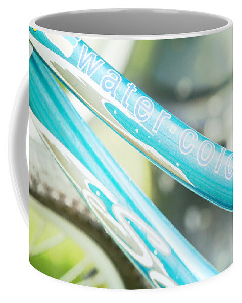 Bicycle Coffee Mug featuring the photograph Watercolor Wheels by Toni Hopper