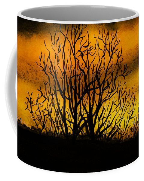 Landscape Coffee Mug featuring the painting Watercolour Sunset by Svetlana Sewell