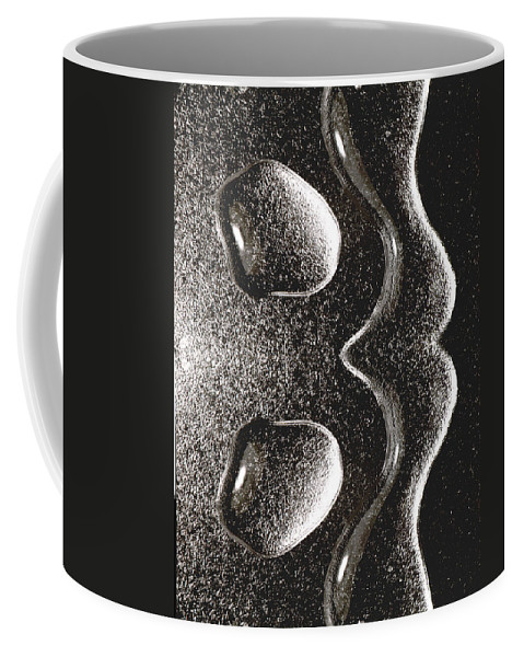 Water Coffee Mug featuring the photograph Waterdrop 1 by Nancy Mueller