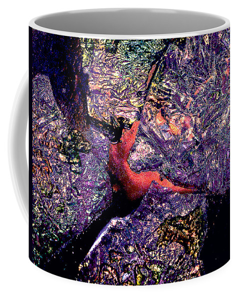 Water Coffee Mug featuring the photograph Waterdrop Abstract by Nancy Mueller
