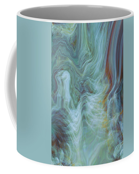 Spiritual Art Coffee Mug featuring the digital art Waterfall Angel by Linda Sannuti