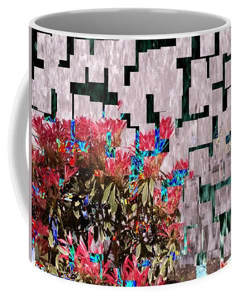 Waterfall Coffee Mug featuring the photograph Waterfall Flowers 2 by Tim Allen
