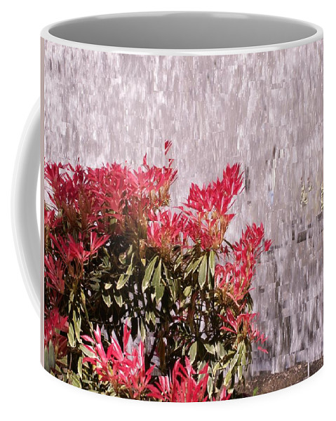 Waterfall Coffee Mug featuring the photograph Waterfall Flowers by Tim Allen