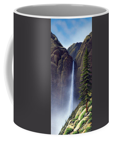 Wilderness Coffee Mug featuring the painting Waterfall by Frank Wilson