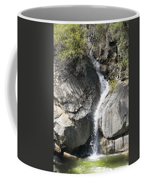 Waterfall Into The Feather River Coffee Mug featuring the photograph Waterfall Into The Feather River by Frank Wilson