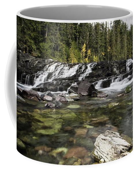 Waterfall Coffee Mug featuring the photograph Waterfall Mcdonald Creek by Daryl L Hunter