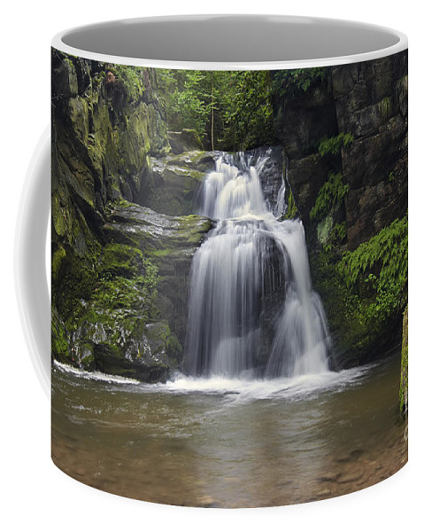 Cascade Coffee Mug featuring the photograph Waterfall by Michal Boubin