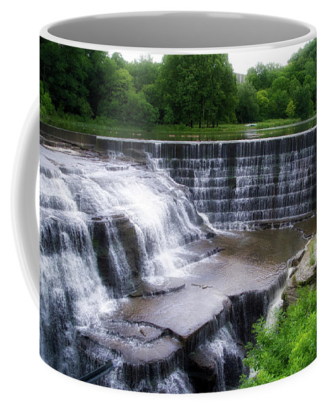 Cornell University Coffee Mug featuring the photograph Waterfalls Cornell University Ithaca New York 05 by Thomas Woolworth