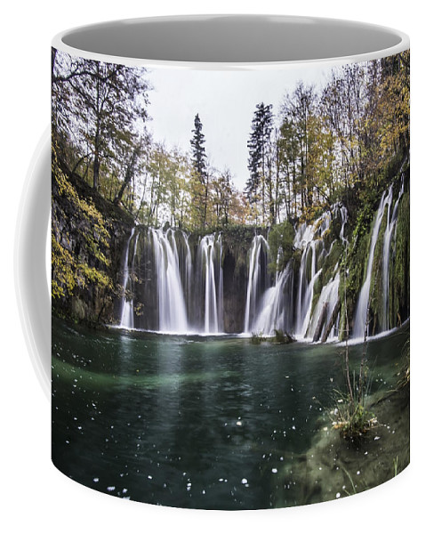 Plitvice Lakes National Park Coffee Mug featuring the photograph Waterfalls In Croatia by Sven Brogren