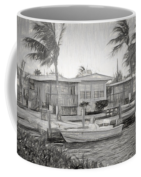 Parmer's Coffee Mug featuring the photograph Waterfront Cottages At Parmer's Resort In Keys by Ginger Wakem