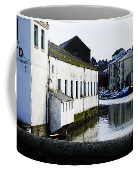 River Coffee Mug featuring the photograph Waterfront Factory by Tim Nyberg