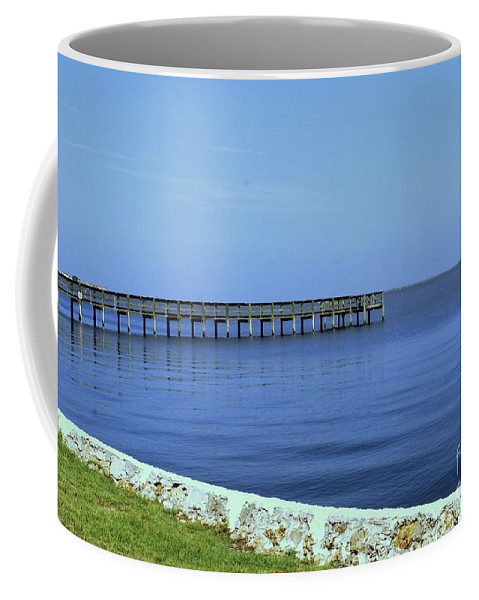 Pier Coffee Mug featuring the photograph Waterfront Pier by Gary Wonning