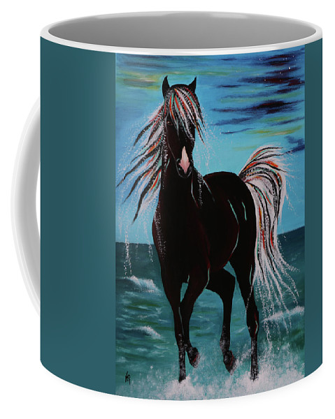 Horse Coffee Mug featuring the painting Waterhorse by Nicole Paquette