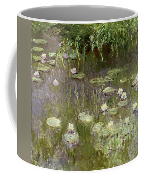Waterlilies At Midday Coffee Mug featuring the painting Waterlilies At Midday by Claude Monet