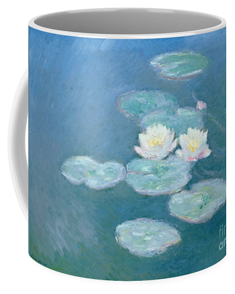 Waterlilies Coffee Mug featuring the painting Waterlilies Evening by Claude Monet