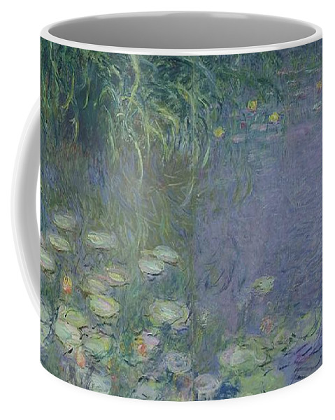 Impressionist;nympheas;matin;quadriptych;water;lily;lilies;waterlily Coffee Mug featuring the painting Waterlilies Morning by Claude Monet