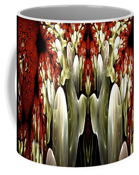 Fractal Coffee Mug featuring the digital art Watermelon Cocktail by Amorina Ashton