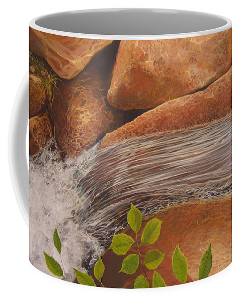 Water Coffee Mug featuring the painting Water's Edge by Hunter Jay